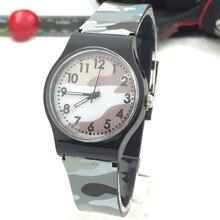 Камуфляж Дети часы кварцевые наручные часы для Обувь для девочек мальчик спортивные часы Кварцевые наручные часы люксовых брендов