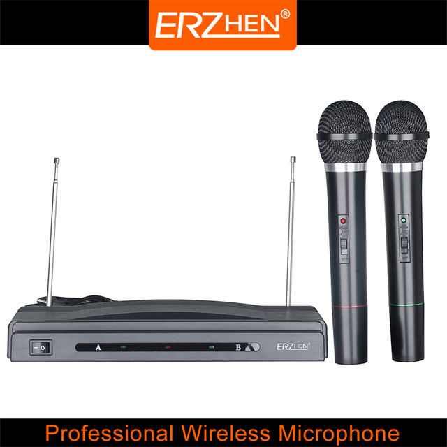 Packet mail R-M306 dual channel wireless microphone, wireless mic, wireless microphone, speaker, two hand-held microphone