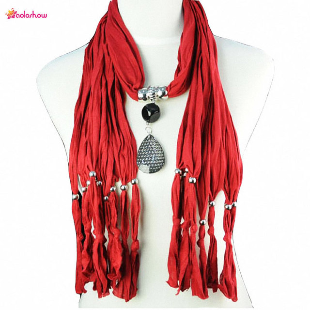 Aoloshow women pendant necklace scarf jewelry handmade scarves long aoloshow women pendant necklace scarf jewelry handmade scarves long design drop pendants charm female jewelry shawl aloadofball Choice Image