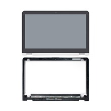 For HP P/N 856813-001 FHD WUXGA LED LCD Touch Screen Digitizer Panel + Bezel Assembly fhd led lcd touch screen digitizer display assembly for dell inspiron 13 5000 p69g001