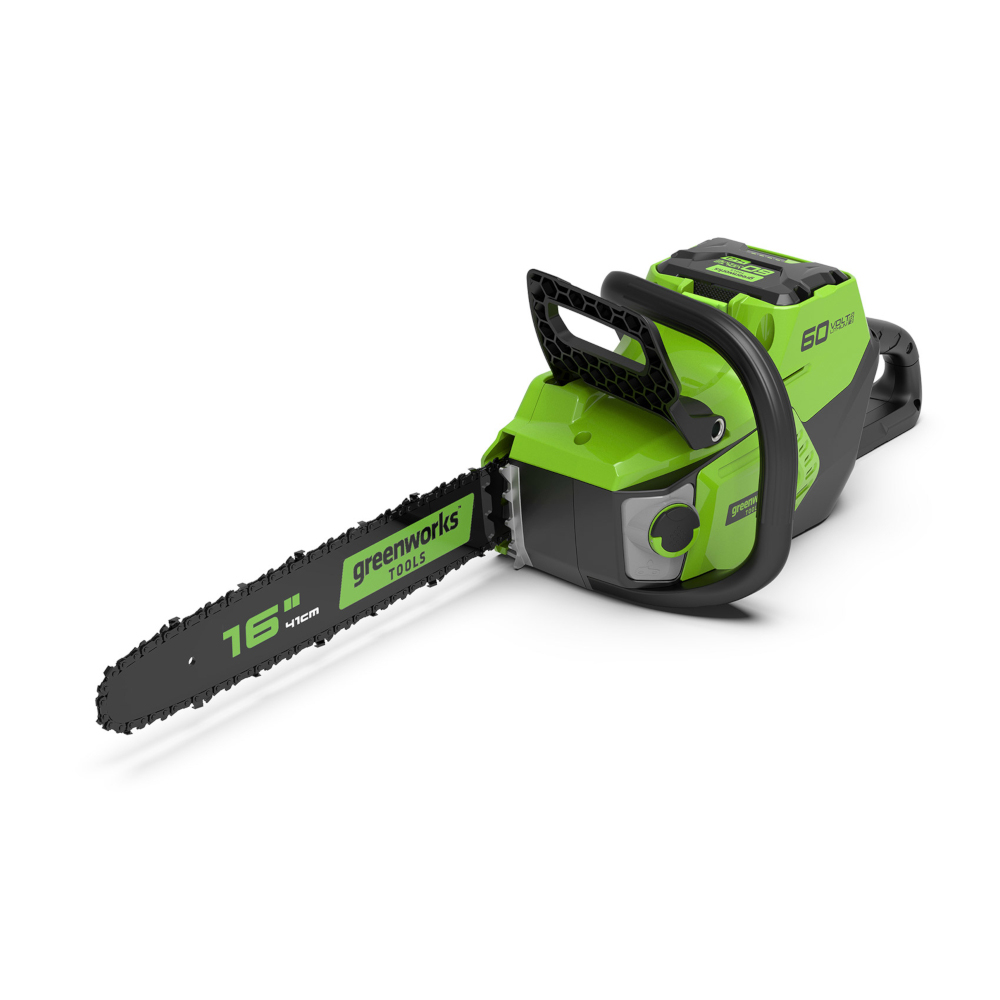 Saw chain rechargeable GreenWorks GD60CS40K2 (60В battery Li-ion, tire 40 cm)