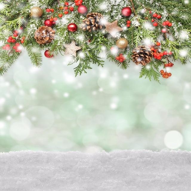 Christmas Background Vinyl Photography Backdrop Snowflake Glitter ...