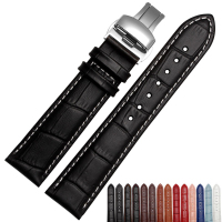 Hot Sale Watchband High Quality Leather Watch Accessories 18mm 19mm 20mm 21mm 22mm Strap Belt Free