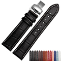 Hot sale Watchband ,High-quality Leather, Watch Accessories 18mm 19mm 20mm 21mm 22mm Strap Belt Free shipping