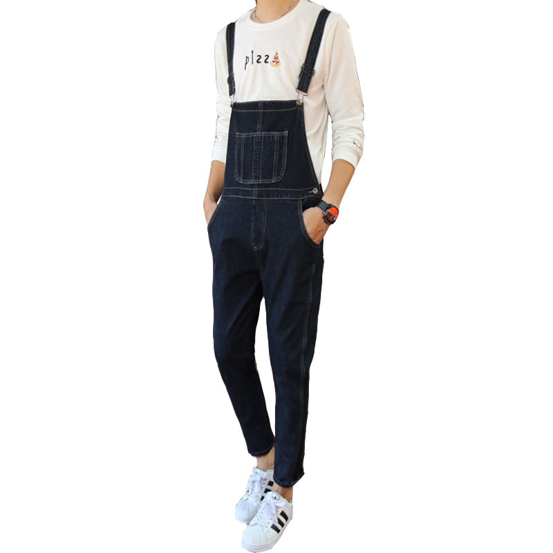 Male Suspenders 2016 New Casual Denim Overalls Blue Jeans Pockets Men's Bib Jeans Boyfriend Jeans Jumpsuits male suspenders 2016 new casual denim overalls blue ripped jeans pockets men s bib jeans boyfriend jeans jumpsuits