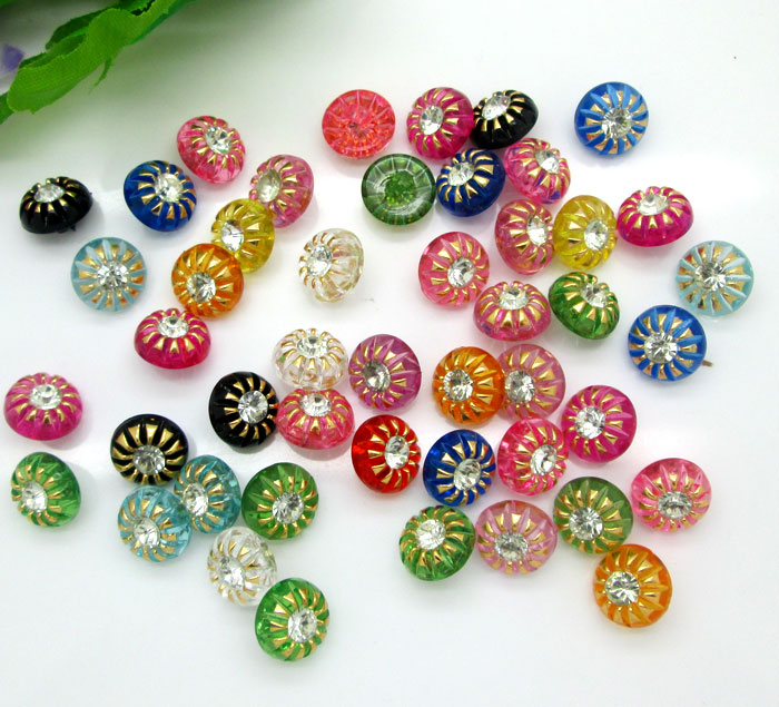 Lovely 50pcs 13mm Mixed Acrylic Drill Round Sewing Buttons For Kids Clothes Scrapbooking Decorative Botones Handicraft Diy Accessories Punctual Timing Apparel Sewing & Fabric