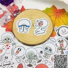 40 pcs Cute naughty round head Stickers for Car Styling Bike Motorcycle Phone book Travel Luggage toy Funny Sticker Bomb Decals