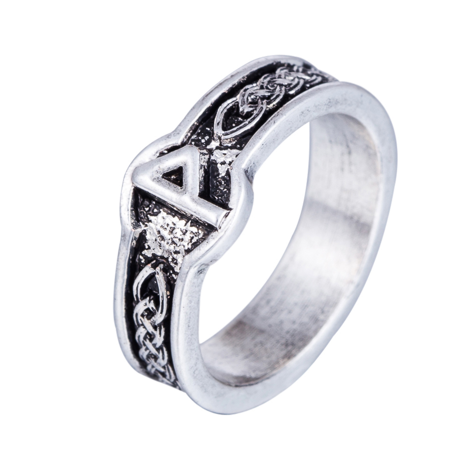Lemegeton Punk Fashion Style Antique Retro Male Jewelry Viking Ring Female Black Amulet Vintage