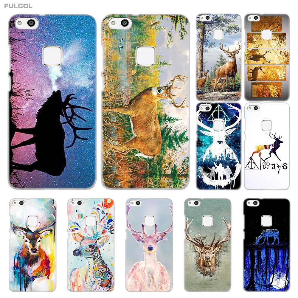 FULCOL Deer art Transparent hard Case Cover for Huawei P8 P9 P10 P20 Lite Plus Pro Lite 2017