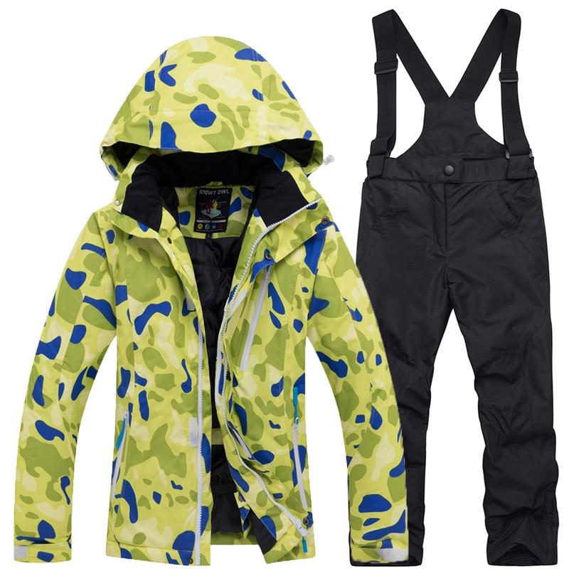 Crianças roupas de inverno crianças roupas de natal da menina da criança roupas de inverno meninas roupas de esqui desgaste dos esportes - 3