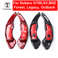 Car styling Real Carbon Fiber Steering Wheel Shift Paddles Shifters Extension For Subaru GT86 XV BRZ Forester Legacy Outback WRX