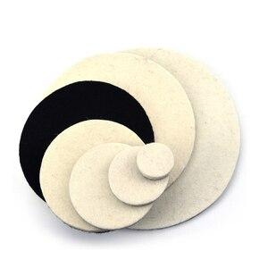 Image 2 - POLIWELL 2PCS 1/2/3/5/6/7 Inch Massaal Wolvilt Polijstschijf slijpen Schuren Disc High density Klittenband Polijsten Pads