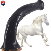 MLSice 16.9 Inch Super Huge Animal Horse Long Soft Anal Dildos Giant Penis Suction Cup Sex Toys for Female Lesbian Masturbation