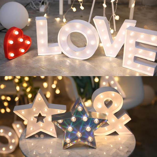 Online Shop English Led Alphabet Romantic Wedding Proposal