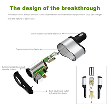 Universal Car Cigarette Lighter with 2 USB Phone Charger