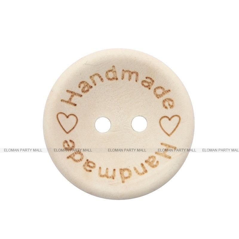 HTB1plMVb26H8KJjy0Fjq6yXepXa2 ELOMAN 50PCS/lot Natural Color Wooden Buttons handmade love Letter wood button craft DIY baby apparel accessories