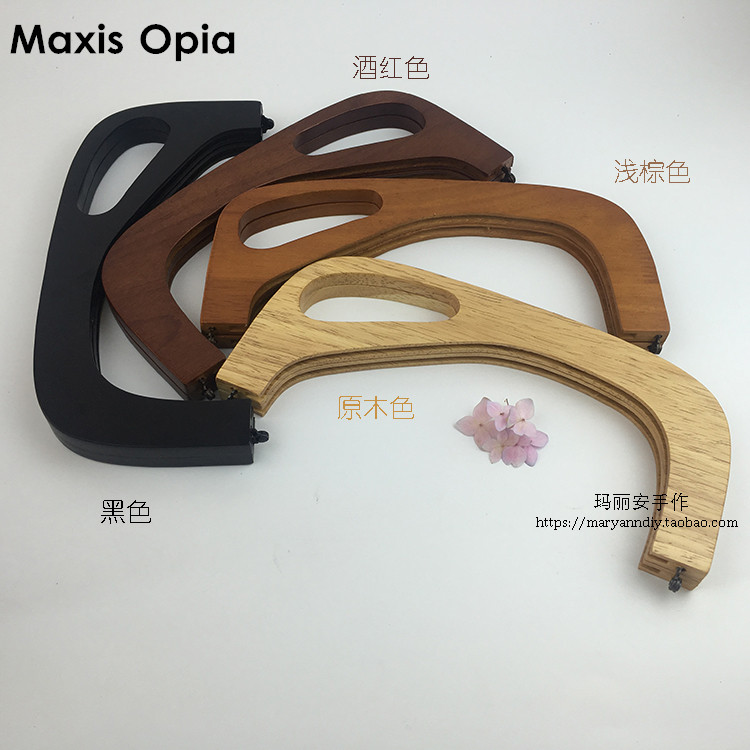 25 CM Solid Wooden Purse Frames Anses Pour Sac Alca Para Bolsa Wooden Oabg Classic Fermoir Sac Wooden Purse Frame Handle Parts