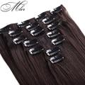 Nova Chegada Remy Grampo de Cabelo Em Extensões Do Cabelo Humano 7 Pçs/set 6A Classe 100% Não Transformados Cor #2 Reta Indiano Extensão Do cabelo