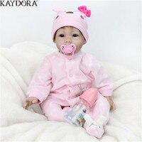 KAYDORA Reborn Vinyl Doll Baby Pink Princess Babies Silicone Girl Gift 55cm 22 inch christmas Decoration Fashion Kids