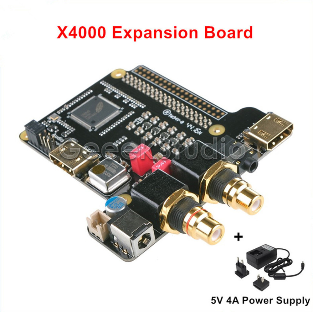 X4000 Expansion Board With Power Supply for Raspberry Pi 3 / 2 Model B tengying tygpio 40pin adapter board 3 26pin expansion board for raspberry pi b red