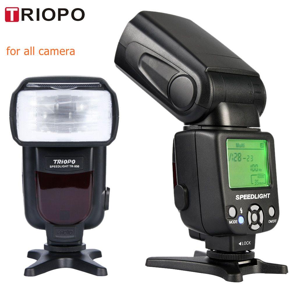 Nuovo Triopo TR-950 Flash Light Speedlite Universale Per Fujifilm Olympus Nikon D5300 Canon 650D 550D 450D 1100D 60D 7D 6D telecamere