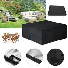 Чехлы для мебели, водонепроницаемые чехлы для уличной мебели, 12 размеров, защита от дождя, снега, дивана, стола, стула, пыли
