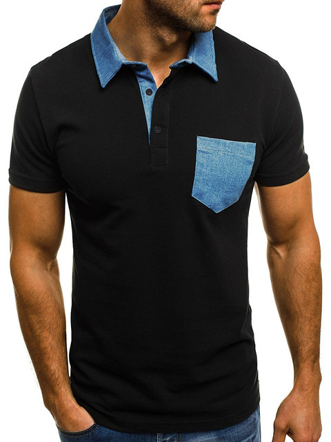Plus Size   Summer Polo Shirt Men 2018  Contrast Color Casual    Short Sleeve Polo Shirt Men  Turn-down Collar   Polo Homme