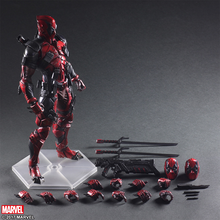 25CM Marvel Action Figure Avengers Deadpool Toys Statue Pre-Painted Model Kit PVC Collectible Model Hands-on Model Decoration цена в Москве и Питере