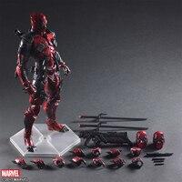 25CM Marvel Action Figure Avengers Deadpool Toys Statue Pre Painted Model Kit PVC Collectible Model Hands on Model Decoration