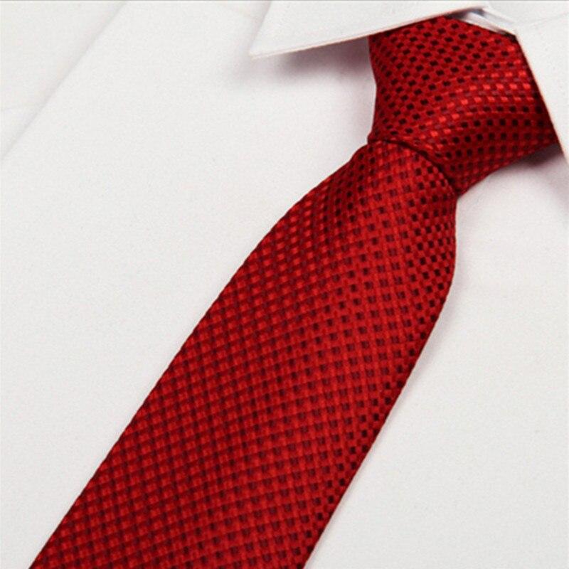 SHENNAIWEI Wedding Red Paisley Silk Plaid Tie 8 Cm Mens Silk Neckties 2016 New Gravatas Jacquard Lotes