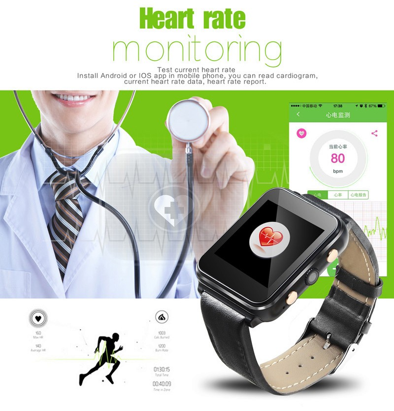 10Pcs/Lot, DHL Free I400 Smart Watch Phone MTK6261A Heart Rate Monitor SIM+TF Card Slot 2MP Camera 1.54″ Screen 400mah Battery