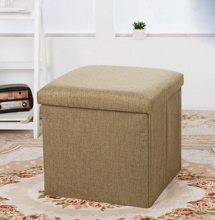 30*30*30cm folding storage stool sofa chair ottomans furniture stool ...