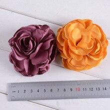 100pcs/lot Artificial Rose Flowers For Baby Girls Headwear Rosette Burning Flowers for Diy Kids Girls Hair Accessory