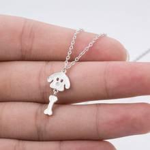 SMJEL – colliers en os pour femmes, bijoux pour petits chiens, chaîne, pendentifs mignons pour animaux de compagnie, cadeaux pour filles, nouvelle collection