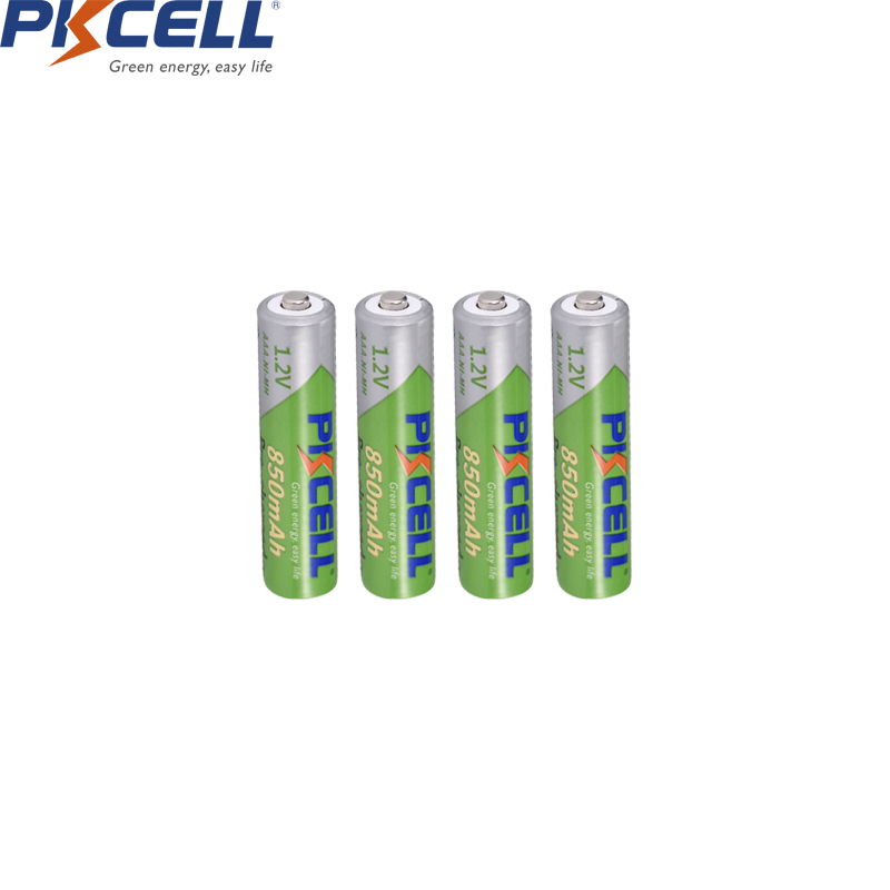 PKCELL Battery AAA 850mah 1.2V NIMH AAA Rechargeable Battery Pre-charge Low Self Discharge Aaa Batteries For Camera Flashlight