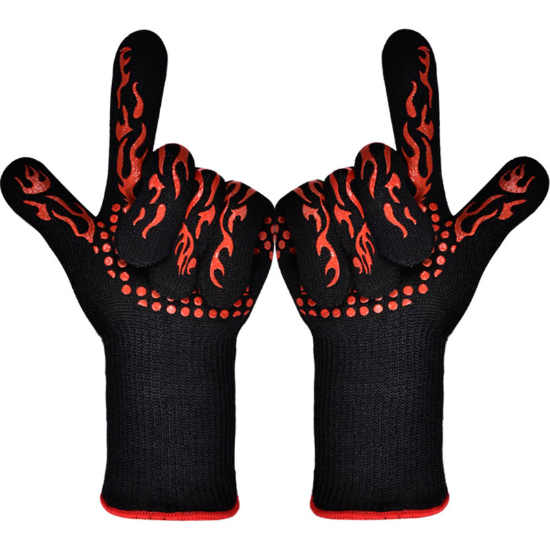 TTLIFE BBQ Gloves Oven Mitts Baking Glove Extreme Heat Resistant Multi-Purpose Grilling Cooking Gloves Barbecue Kitchen Gloves