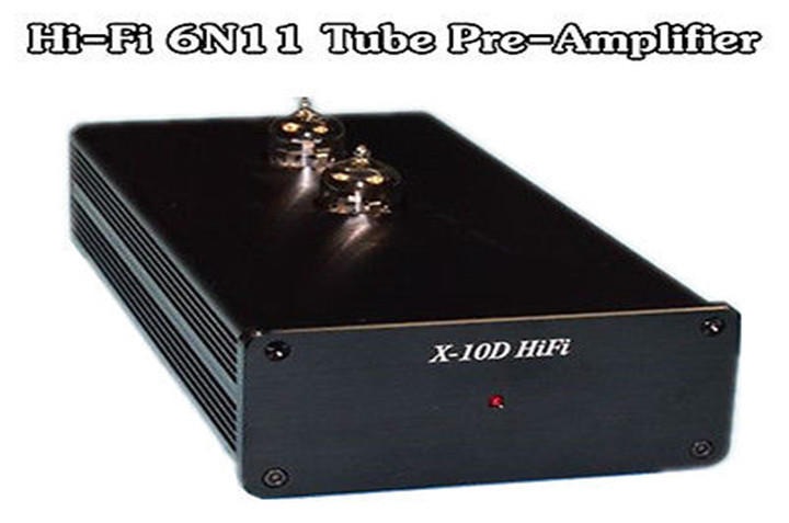 Finished 6N11 Tube Preamp Stereo HiFi Pre-Amplifier Ref Musical X-10D