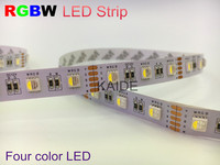 New 5050 RGBW LED Strip four color combination LED DC12v 5m/roll non waterproof