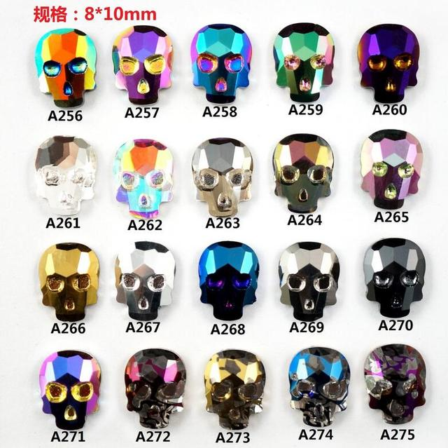 2017 Nail Trends Charms Rhinestones For Nails Alloys New Design Skull 3D Art Decorations Japan