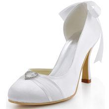 Kristall blume satin runde kappe seite offen high heels pumps schuhe klassischen brautkleid brautjungfer schuhe der pumpen RR-122 YY