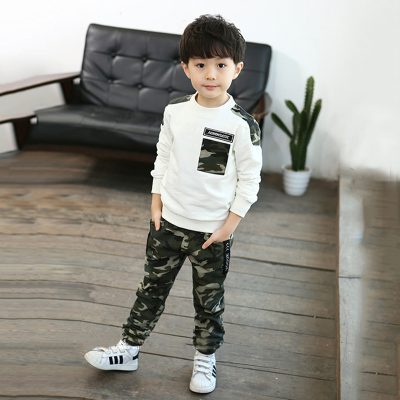 Baby Clothes for Boys Camouflage Pattern 2pcs Autumn Cotton Long Sleeve Casual T-shirt Tops Pants Outfits SetBaby Clothes for Boys Camouflage Pattern 2pcs Autumn Cotton Long Sleeve Casual T-shirt Tops Pants Outfits Set