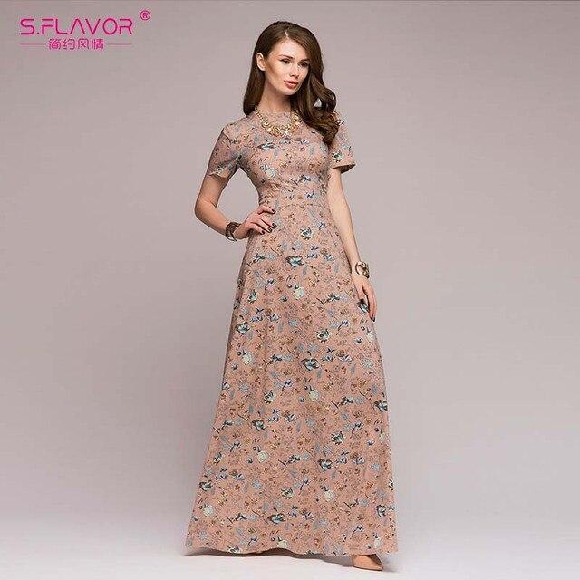 Women Casual Long Dress...