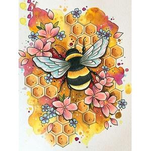 5d алмазная картина пчела Алмазная Сделай Сам Вышивка ремесло мозаика подарок животное Алмазная стена искусство Декор