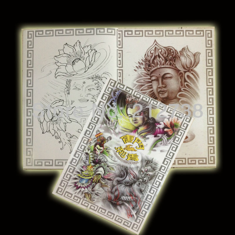 Free shipping a4 tattoo reference book book for for Tattoo reference books
