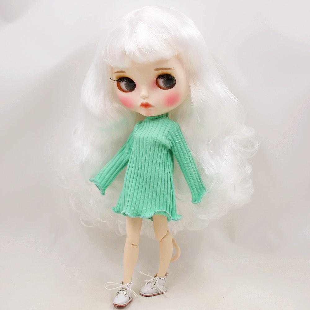 ICY Nude Blyth Doll, ale nie gwarantujemy poprawności wszystkich danych. BL136 białe włosy rzeźbione usta matowy dostosowane twarz z brwi wspólne ciało 1/6 bjd w Lalki od Zabawki i hobby na  Grupa 1