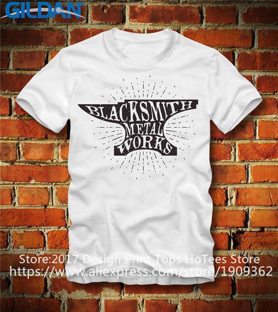 879c72300 Cheap Graphic T Shirts Men'S Crew Neck A Team Blacksmith Works Design Short  Sleeve Office Tee
