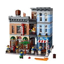 High Quality Lepin 15011 City Street Creator Expert Resturant figures Avengers Set Assemble Building Blocks Kits Toys