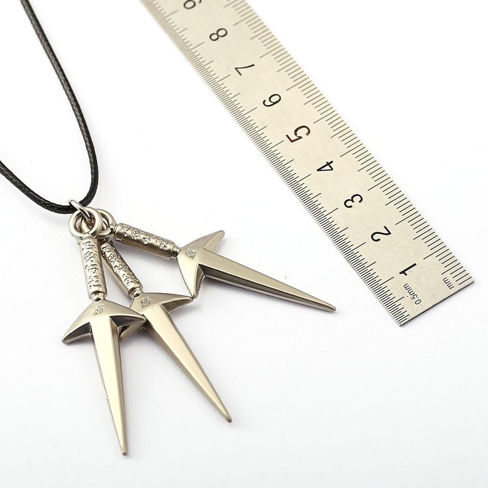 MS Jewelry Naruto Choker Necklace Kunai Pendant Men Women Gift Anime Jewelry Accessories Keychain for Men