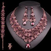 e554d58a2d05 Collar Vintage pendientes conjuntos Retro indio de conjuntos de joyas de  las novias de boda de las mujeres de joyas de lujo rega.
