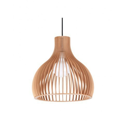 ems free shipping e27 pendant light mystery bucket wood shade